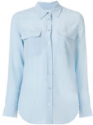 Рубашка с накладным карманом Equipment. Цвет: синий