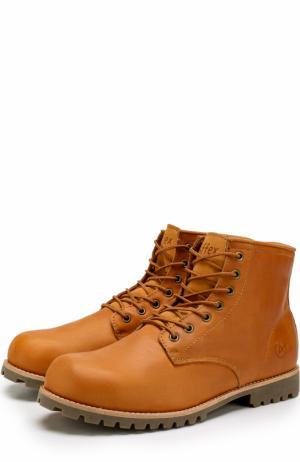 Кожаные ботинки Moscow на шнуровке Affex. Цвет: коричневый