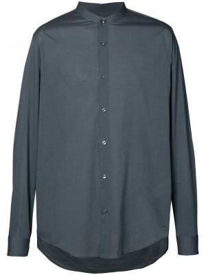 Классическая рубашка Vince. Цвет: серый