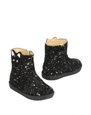 Полусапоги и высокие ботинки FALCOTTO. Цвет: черный