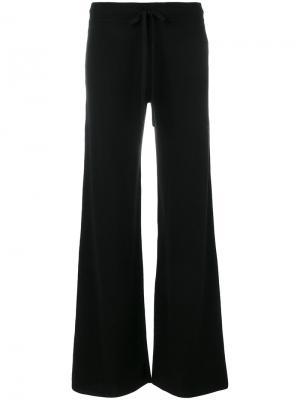 Расклешенные брюки Pringle Of Scotland. Цвет: чёрный