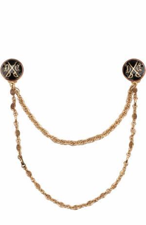 Брошь для воротника с цепью Dolce & Gabbana. Цвет: золотой