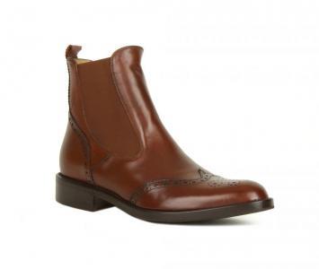Простые коричневые ботинки с высоким голенищем от Berto Giantin