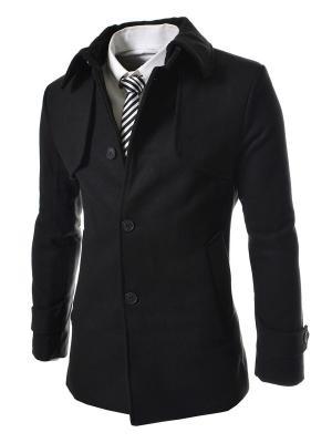 Пальто VipDressCode. Цвет: черный