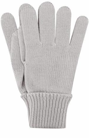 Шерстяные перчатки Il Trenino. Цвет: серый