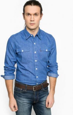 Джинсовая рубашка с нагрудными карманами Levi's®. Цвет: синий