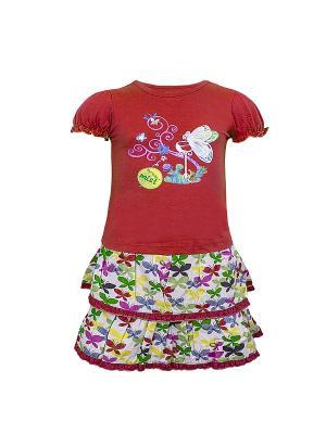 Комплект одежды WWW. Цвет: красный
