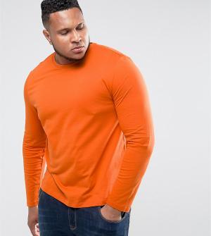ASOS Оранжевый лонгслив PLUS. Цвет: оранжевый