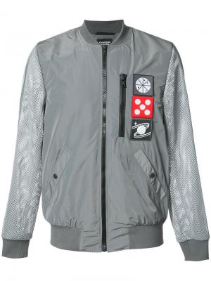 Куртка-бомбер с прозрачными рукавами Christopher Raeburn. Цвет: серый