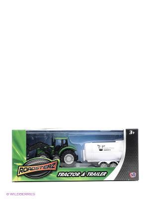 Трактор с белой бочкой HTI. Цвет: белый