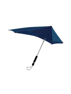 Зонт-трость senz Original  iconic reflection. Цвет: синий