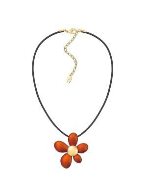 Ожерелье Модные истории. Цвет: оранжевый