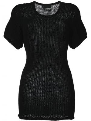 Платье-футболка Blackyoto. Цвет: чёрный