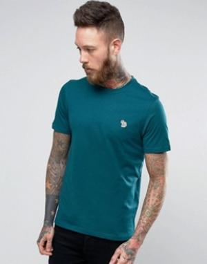 PS by Paul Smith Зеленая узкая футболка с логотипом. Цвет: зеленый