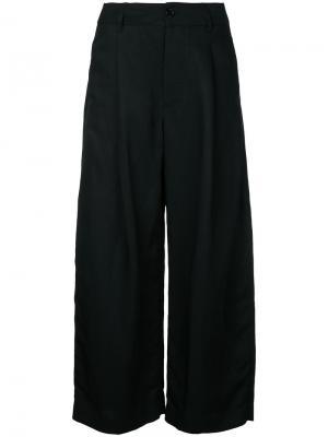 Укороченные брюки Studio Nicholson. Цвет: чёрный