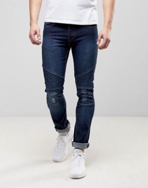 Loyalty & Faith Зауженные байкерские джинсы and Hayden. Цвет: синий