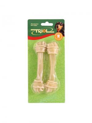 Набор кость узл.8 85-90 г (уп.2шт). TRIOL. Цвет: коричневый