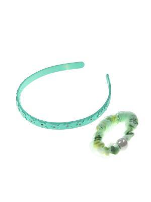 Аксессуары для волос (Ободок, резинка) Migura. Цвет: зеленый