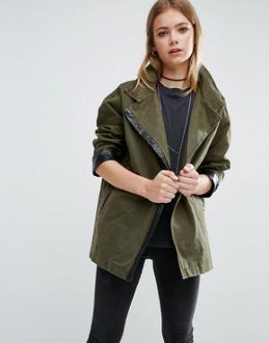 Goldie Куртка в стиле милитари Existance. Цвет: зеленый