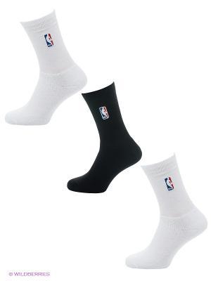 Носки NBA SOCK 3PP, 3 пары Adidas. Цвет: белый, черный