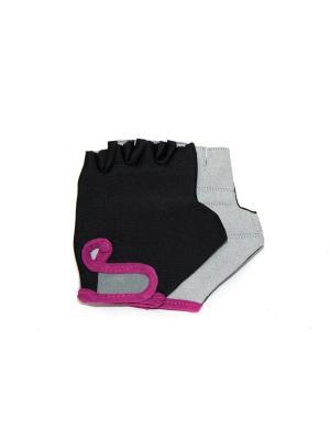 Перчатки для тренировок Eleon. Цвет: черный, серый, темно-фиолетовый
