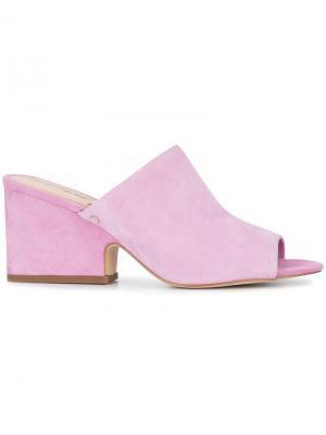 Мюли на каблуке Sam Edelman. Цвет: розовый и фиолетовый