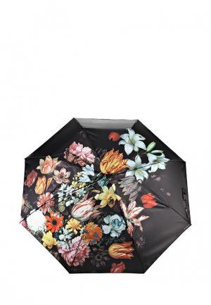 Зонт складной Flioraj. Цвет: черный
