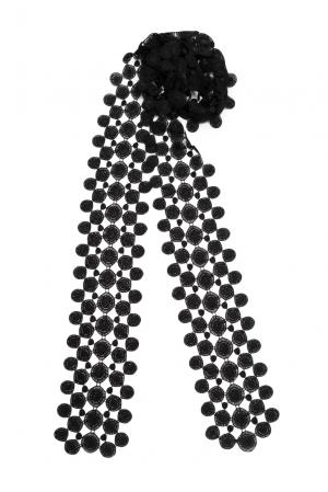 Кружевной шарф 143357 Plauener Spitze. Цвет: черный