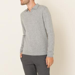 Пуловер из шерсти и кашемира HARTFORD. Цвет: серый