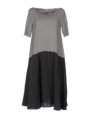 Платье до колена A.B APUNTOB. Цвет: свинцово-серый