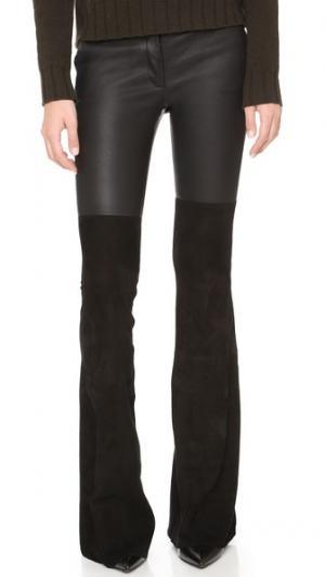 Замшевые расклешенные брюки Gigi Rachel Zoe. Цвет: голубой