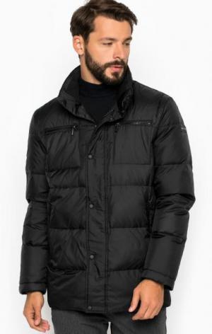 Черная куртка на молнии и кнопках LAGERFELD. Цвет: черный
