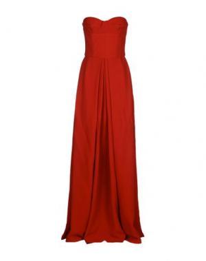 Длинное платье DANIELE CARLOTTA. Цвет: красный