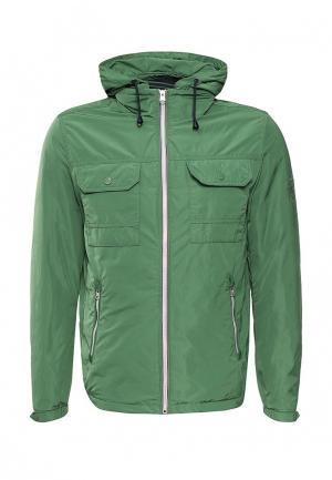 Куртка утепленная Tommy Hilfiger. Цвет: зеленый