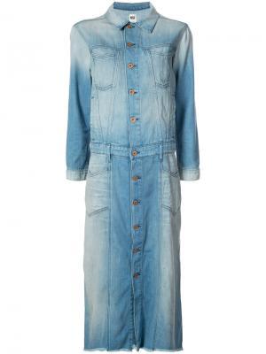 Stonewashed denim shirt dress NSF. Цвет: синий