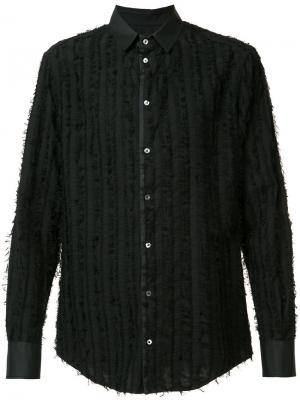Рубашка с вышивкой Tom Rebl. Цвет: чёрный