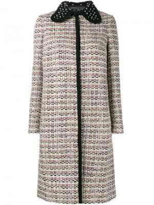 Твидовое пальто Giambattista Valli. Цвет: многоцветный