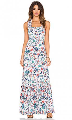 Макси платье dolce flora Ella Moss. Цвет: белый