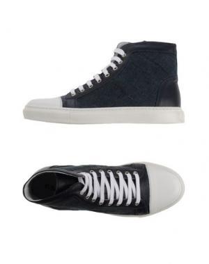 Высокие кеды и кроссовки EXIBIT. Цвет: темно-синий