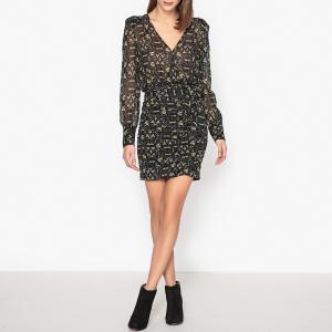 Платье с принтом RONNIE BA&SH. Цвет: хаки