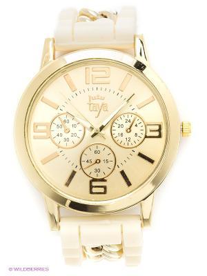 Часы Taya. Цвет: золотистый, кремовый