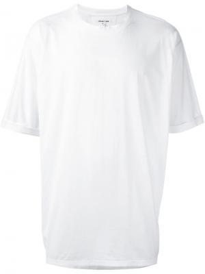 Свободная футболка Helmut Lang. Цвет: белый