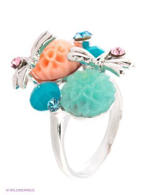 Кольцо Lovely Jewelry. Цвет: бирюзовый, голубой