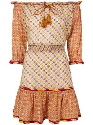 Платье Leya Talitha. Цвет: жёлтый и оранжевый