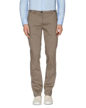 Повседневные брюки JFOUR. Цвет: хаки