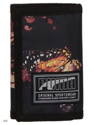 Кошелек PUMA Academy Wallet. Цвет: черный, персиковый