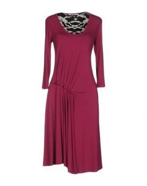 Платье до колена DIDIER PARAKIAN. Цвет: розовато-лиловый
