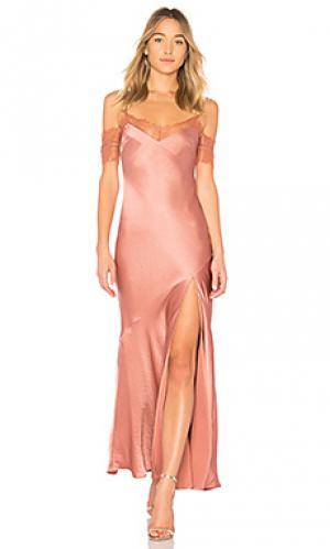 Платье-комбинация satin bias NICHOLAS. Цвет: rose
