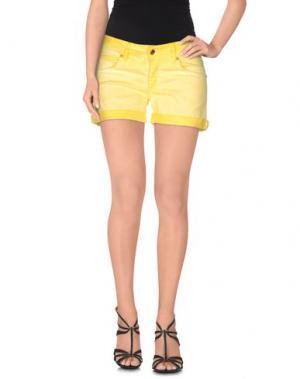 Джинсовые шорты MET. Цвет: желтый