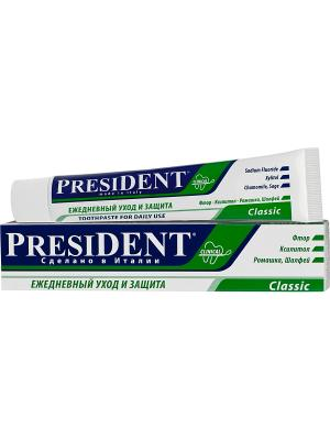 Зубная паста Classic,  75мл PresiDent. Цвет: белый, синий, зеленый